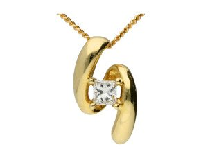 9ct Yellow Gold 0.10ct Diamond Pendant
