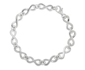 9ct White Gold Infinity Bracelet