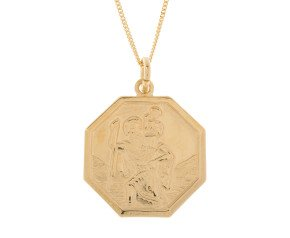 9ct Yellow Gold Small St Christopher Pendant