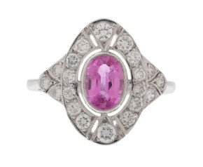 Pre-Owned 1.00ct Pink Sapphire & Diamond Cocktail Ring