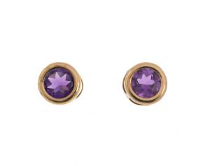 Pre-Owned Amethyst Stud Earrings