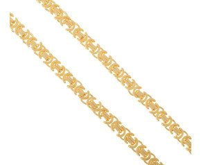 Men's 9ct Yellow Gold 8.2mm Byzantine Chain