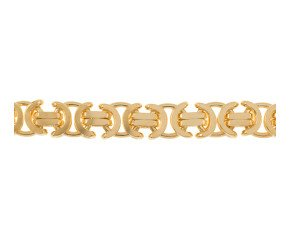 Men's Yellow Gold 11.2mm Byzantine Chain