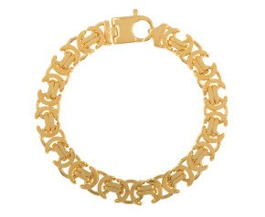 Men's Yellow Gold 11.20mm Byzantine Bracelet