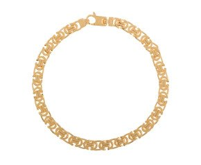 Men's 9ct Yellow Gold 5.50mm Byzantine Bracelet