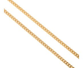 9ct Yellow Gold 3.5mm Filed Curb Chain