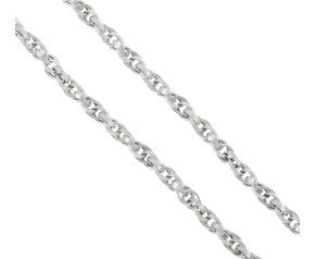 Men's White Gold 5.6mm Prince of Wales Chain