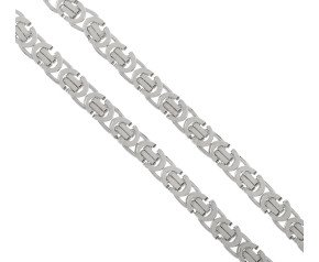 Men's 9ct White Gold 5.6mm Byzantine Chain