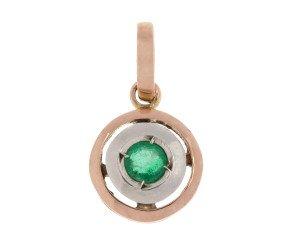 Handcrafted Italian Emerald Pendant