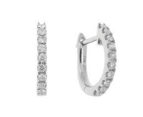 18ct White Gold 0.50ct Diamond Hoop Earrings