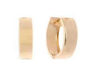 9ct Gold Hinged Creole Earrings