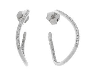 Pre-Owned 0.42ct Diamond Hoop Earrings