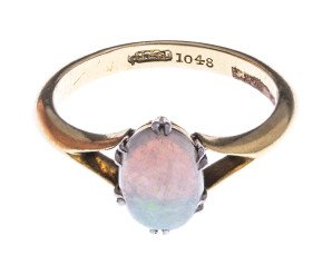 Vintage 18ct Yellow Gold 0.65ct Opal Solitaire Ring