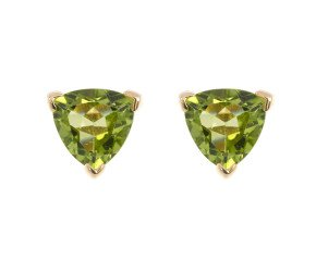9ct Yellow Gold 2cts Peridot Solitaire Earrings