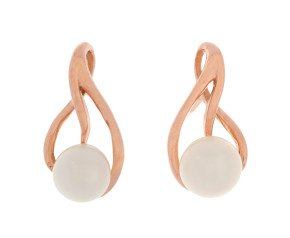 9ct Rose Gold 5.3mm Cultured Pearl Earrings