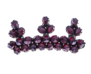Antique Victorian Garnet Crown Brooch