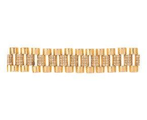 Pre-Owned 18ct Gold & Diamond Bracelet