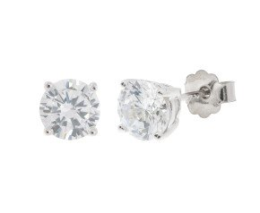 18ct White Gold 1ct Diamond Solitaire Stud Earrings