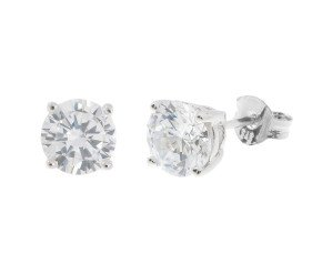 18ct White Gold 0.70ct Diamond Solitaire Stud Earrings