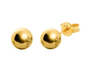 9ct Gold 7mm Ball Stud Earrings