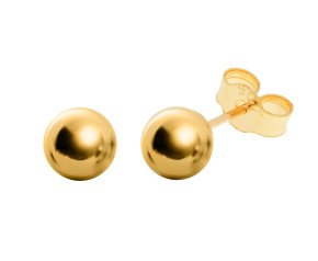 9ct Gold 5mm Ball Stud Earrings