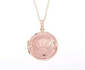 Vintage 9ct Gold Sunrise Front & Back Locket