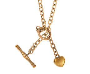 Pre-owned 9ct Yellow Gold Fancy Heart Necklace