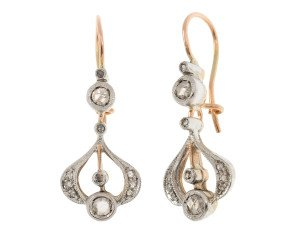 Handcrafted Italian 0.45ct Diamond Drop Earrings