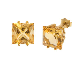 Pre-Owned 9ct Gold 4.66ct Citrine Earrings