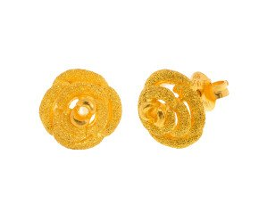 Rose Design Stud Earrings