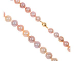 12mm-15mm Edison Pearl Natural Pink Strand with 9ct Gold Clasp
