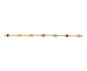 Pre-Owned 9ct Gold Multi Gem Bracelet