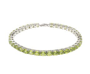 9ct White Gold 14.86ct Peridot Bracelet