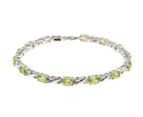 9ct White Gold 6.67ct Peridot Bracelet