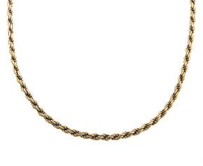 "Vintage 9ct Gold Heavy 22"" Fancy Rope Chain"