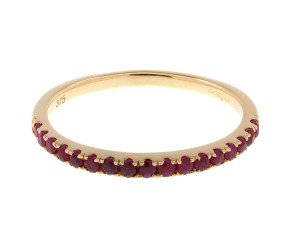 9ct Yellow Gold Ruby Half Eternity Ring