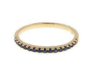 9ct Yellow Gold Sapphire Half Eternity Ring