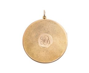 Antique 15ct Yellow Gold Round Locket