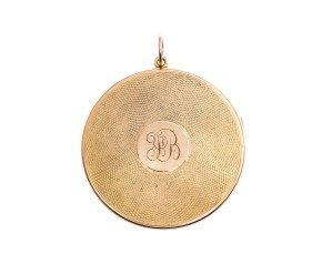 Antique 15ct Yellow Gold Round Locket