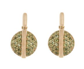 9ct Yellow Gold Peridot Drop Earrings