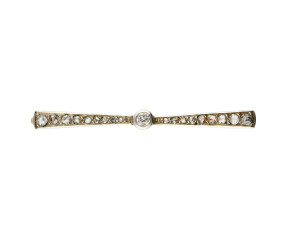 Antique Art Deco Platinum & Gold 0.25ct Diamond Brooch