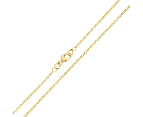 18ct Yellow Gold 1.37mm Curb Chain