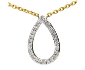 18ct Yellow Gold Fancy Diamond Necklace