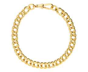 18ct Yellow Gold 6.86mm French Curb Chain Bracelet