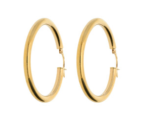 9ct Yellow Gold 3.5mm Hoop Earrings