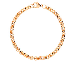 9ct Rose Gold 5.08mm Round Belcher Bracelet