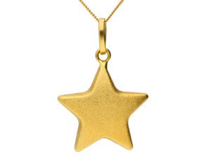 Pre-owned Italian 18ct Gold Star Pendant