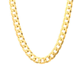 Men's 9ct Yellow Gold 5.2 Filed Curb Chain-20.00 inches
