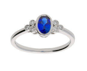 Pre-Owned 0.51ct Sapphire & Diamond Dress Ring