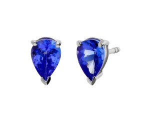 1.22cts Tanzanite Solitaire Stud Earrings